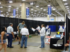 Trucking Solutions Group Blood Drive at the GATS Truck Show in Dallas, 2013